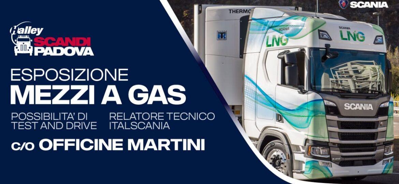 Esposizione mezzi a gas officine martini
