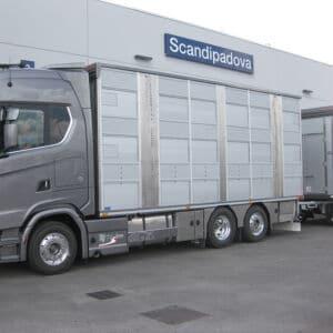 Camion trasporto bestiame con allestimento speciale