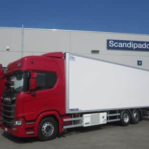 Scania con semirimorchio Lamberet